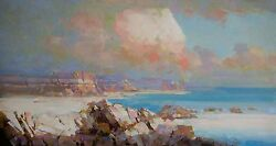 South Bay Original Oil Painting On Canvas Large Size Handmade One Of A Kind