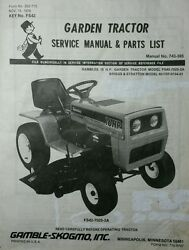Gamble Skogmo Fs42-7025-2a Mtd 700 Ser Lawn Garden Tractor Owner And Parts Manual