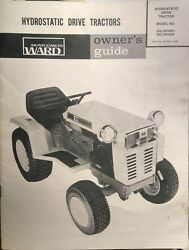 Montgomery Ward Hydro 16 Garden Tractor, Mower And Tiller Owner And Parts 4 Manuals