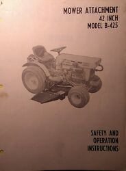 Kubota B6000 Diesel 4x4 Tractor 42 Center Mower Implement Owner And Parts Manual