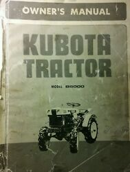 Kubota B6000 Diesel 4x4 Tractor And Implements Operator And Parts 4 Manuals170pg