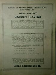 David Bradley 917.5751 Garden Tractor And Cultivator Owner And Parts 2 Manual S Db