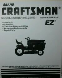 Sears Craftsman Lawn Garden Tractor And 42 Snow Thrower Owner And Parts 2 Manuals