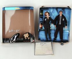 Barbie And Ken X-files Box Set 1998 Collector Edition Scully Mulder Coa 19630