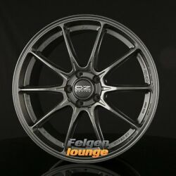 4 Alloy Wheels oz Hyper Gt Star Graphite 8x18 Et45 5x108 Ml75 New