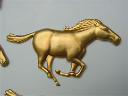 5 Detailed Brass Horse For Crafts,clocks,steampunk And Boxes Pack Of 5