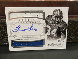 Panini Flawless Silver Greats Autograph Jersey Bills Thurman Thomas 09/25 2014