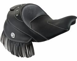 Indian Motorcycle Genuine Leather Reduced Reach Heated Seat - Black - 2879578-02
