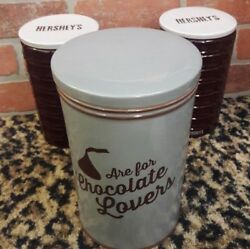 Fitz And Floyd Hershey Kisses Chocolate Lover Ceramic Storage Cookie Canister Jar