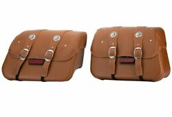 2015-2021 Genuine Indian Scout Leather Saddlebags - Desert Tan - 2880234-05