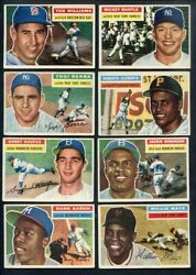 1956 TOPPS BASEBALL COMPLETE SET W/MANTLE WILLIAMS CLEMENTE 353897 (KYCARDS)