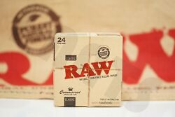 Full Box 24 Packs Authentic Raw Rolling Paper Connoisseur King Size