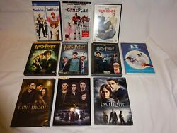 Lot Disney The Game Plan Old Dogs E.t. Harry Potter Twilight Breaking Dawn 2 Dvd