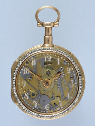 Rare Skeletonised Repeating Pocket Watch with Glass Dial