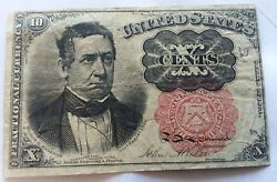 Lot Of 4 United States Fractional Currency Notes Includes Rare Green Seal Note