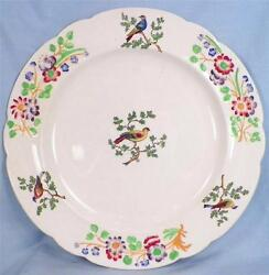 Copeland Late Spode Luncheon Plate Birds On Branches Pattern 6919 England O3