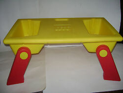 Lego 1994 Vintage Lap Tray Table Building And Storage Bins W/ Fold Up Legs Rare