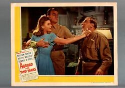 Abroad With Two Yanks-1944-william Bendix-helen Walker-comedy-lobby Card Vf