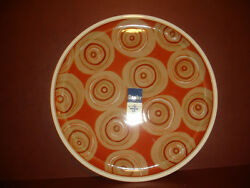 New Denby Fire Chilli Round Large Serving Platter Plate Pottery Stoneware China