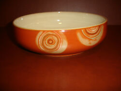 Nwt Denby Fire Chilli Large Serving Bowl Plate Pottery Stoneware China New