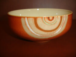 Nwt Denby Fire Chilli Swirl Soup Cereal Bowl Pottery Stoneware China New