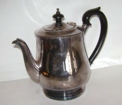 Vintage Barker Ellis Made In England Silver Plate Tea Coffee Pot 7 Tall Rare