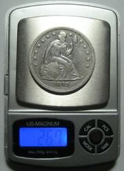 = 1849 Xf/au Seated Dollar Nice Details And Eye Appeal Free Shipping