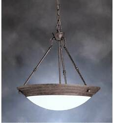 Extra Large Kichler Lighting 32 Family Space Pendant W/satin Etched White Glass