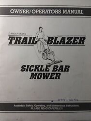 Troy-bilt Trail-blazer Sickle Mower And Engine Service, Owner And Parts 5 Manual S