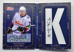 2012-13 Khl Gold Collection Solid Gold Gol-d04 Evgeny Malkin Letter Auto 4/7