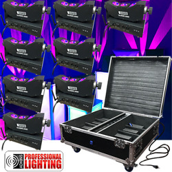 Led Tri-beam Rgba Wireless Battery Up-light 8 Lights With Case