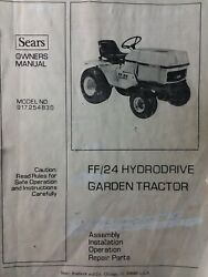 Sears Ff/24 Lawn Garden Tractor And Mower Deck Owner And Parts Manual 2 Manual S