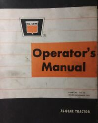 Oliver 75 Lawn Tractor And 34 Mower And 42 Dozer Plow Blade Owner And Parts 3 Manuals