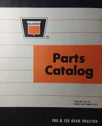 Oliver 105 125 Lawn Garden Tractor And Mower Dozer Tiller Owner And Parts 4 Manuals