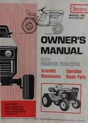 Sears Suburban 10/6 Lawn Garden Tractor Owner And Parts Manual 917.253141 12/6 14/