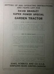 David Bradley Sears 917.575105 Garden Tractor And Plow Owners And Parts 2 Manuals
