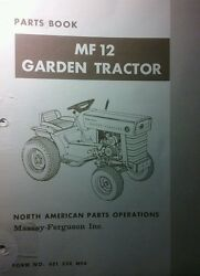 Massey Ferguson Mf 12 Lawn Garden Tractor And Implements Master Parts Manual 184pg