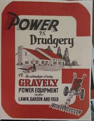 Gravely 1950 Model L Two-wheel Garden Tractor Color Sales Brochure Manual 5 H.p