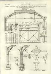 1889 Deptford Central Station Roof Over Engine And Machine Buildings