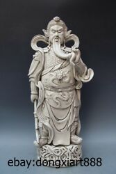 25 Chinese White Porcelain And Pottery Guan Gong Guan Yu War God Soldier Statue
