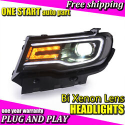 For Jeep Compass 2017-2018 Headlights Bi-Xenon Lens HID KIT LED DRL Head Lamps