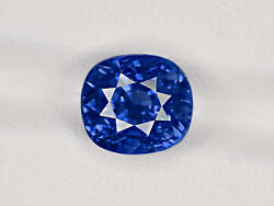 GIA Certified KASHMIR Blue Sapphire 5.90 Cts Natural Untreated Cushion