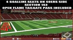 4 SF San Francisco 49ers SBL SBL'S PSL'S Seat Rights Season Tickets LOWER LEVEL