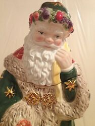 Waterford - Holiday Heirlooms - Letter To Santa Cookie Jar - 12 Tall - Used