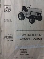 Sears Ff/24 Lawn Garden Tractor Owner Parts And Engine Repair Service 2 Manual S