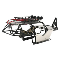 1/10 Rc Axial Wraith Steel Frame Body Roll Cage With Roof Rackand Alloy Sheets