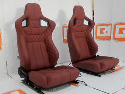 LRI full leather heated front burgundy Corbeau seats Fit Land Rover Defender 90