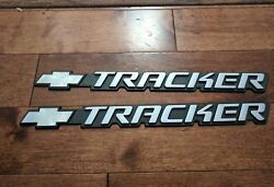2000and039s Chevrolet Tracker Genuine Side Emblems Pair