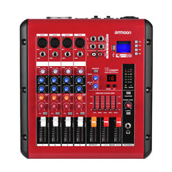4-Channel Digital Audio Mixer Mixing Console with Power Amplifier Function Q3W6