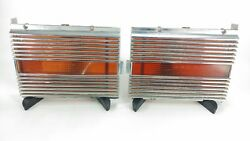 1968 Pair Chrysler Newport Station Wagon Tail Light Extensions 2853462 42374 T68